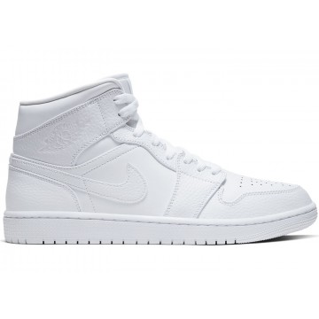 Jordan 1 Mid Triple White 2.0